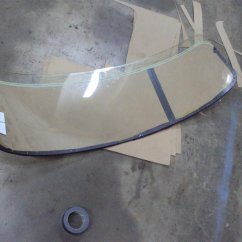 preping original glass for cut