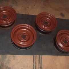 wheels being painted