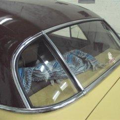 rear glass trim installed