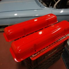 Chevy orange on original valve covers