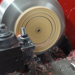 turning the lucite on a lathe