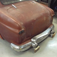 Kaiser guard fitted to 50 Ford bumper