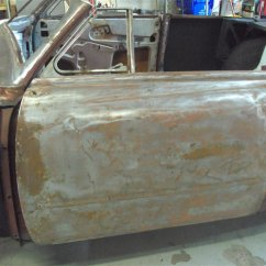 convertible door in bare metal
