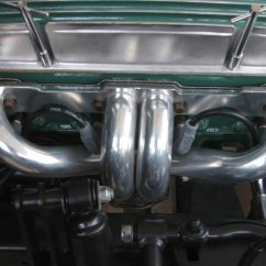 block hugger headers / finned valve covers