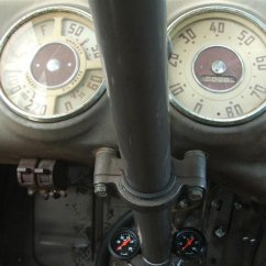 column mounted modern gauges